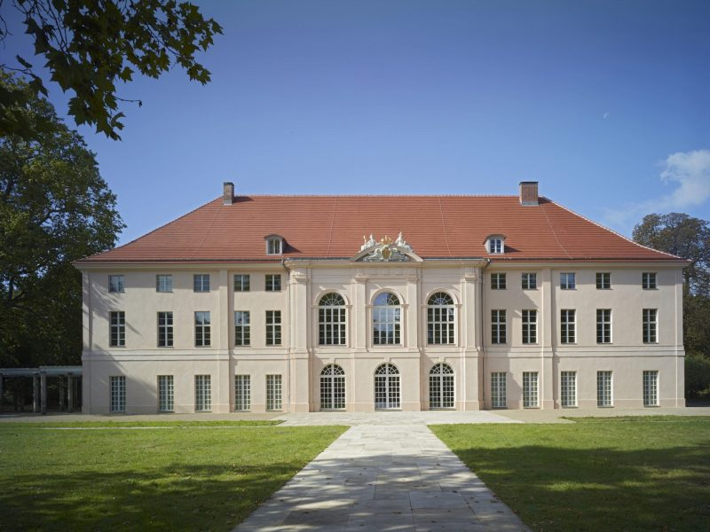 Berlin, Schloss Schönhausen, Ansicht von der Gartenseite.