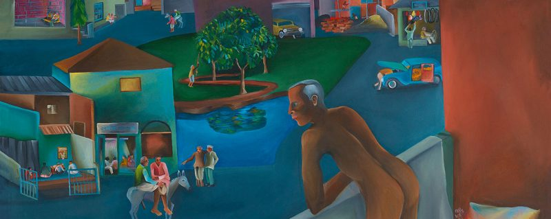 Bhupen Khakhar: You Can't Please All, 1981 © Estate of Bhupen Khakhar