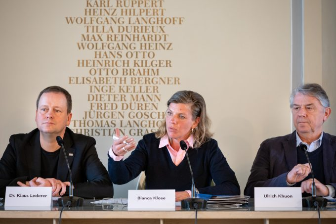 Pressekonferenz mit Ulrich Khuon und Bianca Klose