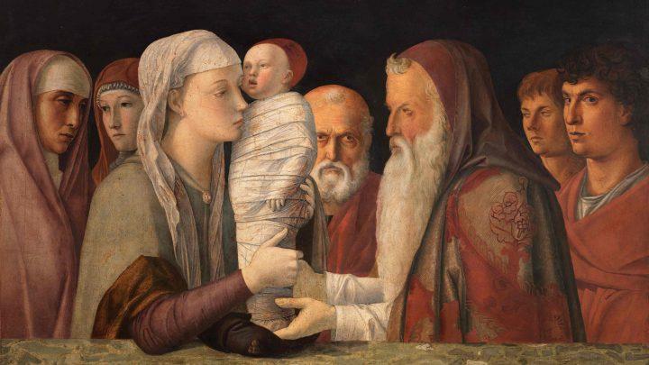 Giovanni Bellini Die Darbringung Christi im Tempel, ca. 1472 Holz, 80 x 105 cm © Fondazione Querini Stampalia, Venedig / cameraphoto arte snc