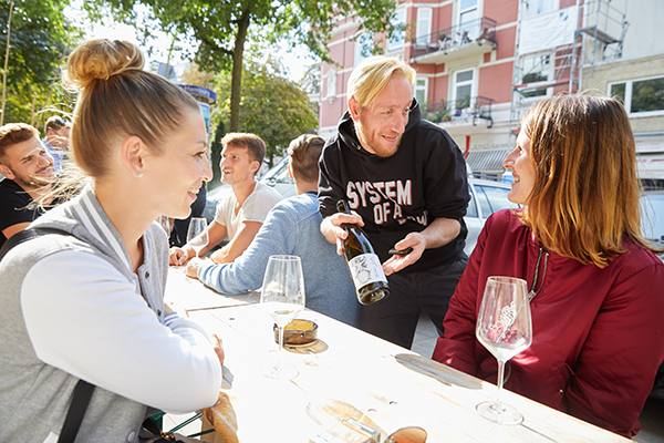 08.09.2018, Hamburg: Tag des offenen Weins. Foto: Georg Wendt