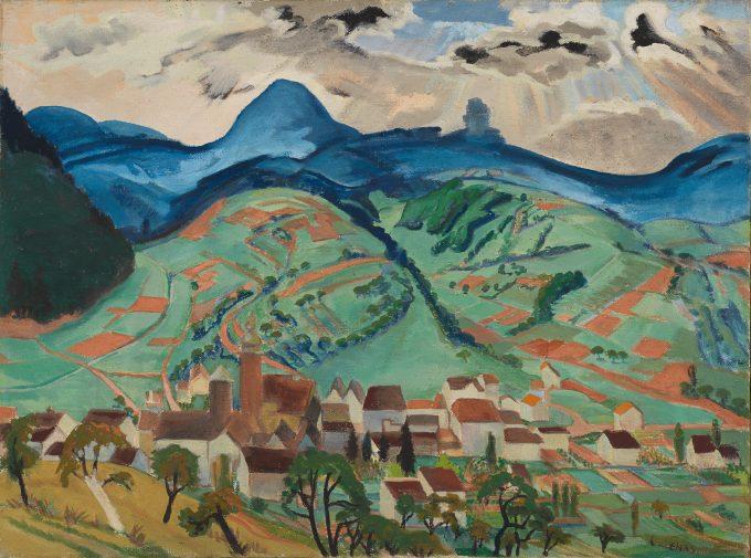 Erich Heckel, Annweiler, 1933, Tempera auf Leinwand, Brücke- Museum © Nachlass Erich Heckel, Hemmenhofen
