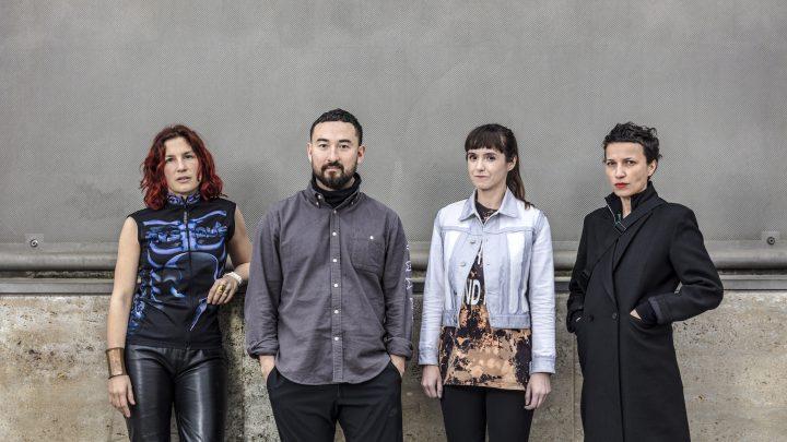 Gruppenbild Shortlist-Kandidat*innen Preis der Nationalgalerie 2019 Pauline Curnier Jardin, Simon Fujiwara, Katja Novitskova, Flaka Haliti (v.l.n.r.)