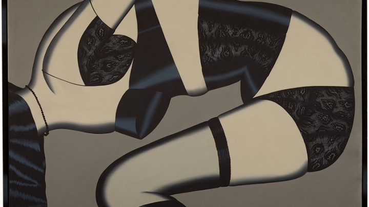 Christina Ramberg, Waiting Lady, 1972, acrylic on Masonite, 22 3/4 × 34 1/4