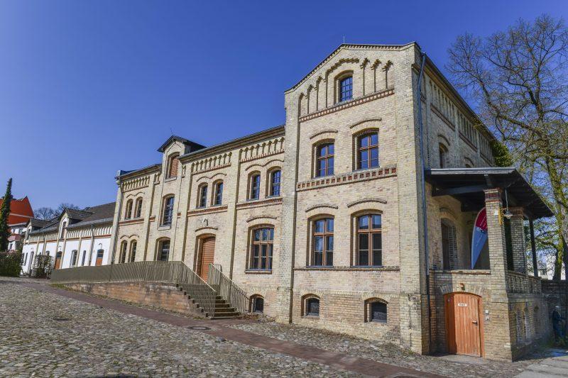 View of Gutshof Britz of Berlin, a castle in Southern Neukölln.
