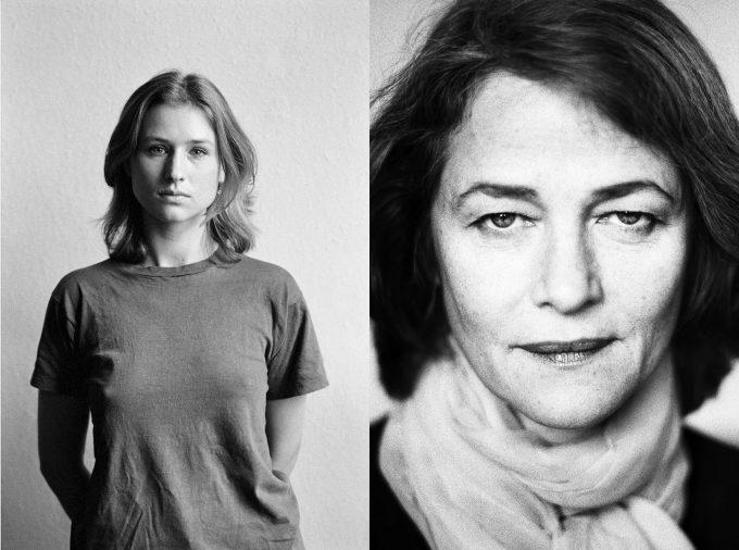 Die junge Corinna Harfouch (links) und Charlotte Rampling  im Jahr 2000: Birgit Kleber und Michael Weidt fotografierten Schauspieler abseits  des Rampenlichts