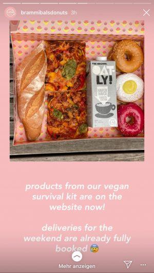 Brammibal's Donuts backen zum Beispiel jetzt neben Donuts auch Brot und Pizza. Gesehen auf Instagram...