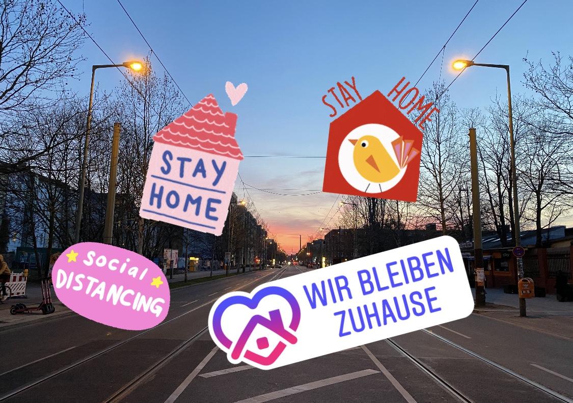 #stayhome: Viele bunte Logos hübschen auf Instagram Storys auf – nicht jeder hat das Glück, sich mit solchen Dingen zu beschäftigen. Foto: Tip Berlin/Instagram