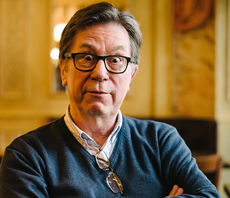 """Der ehemalige Karstadt-Erpresser Arno Funke alias Dagobert. Heute arbeitet er für den """"Eulenspiegel"""" als Karikaturist"""