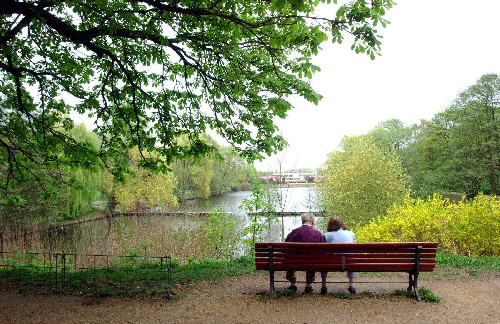 Das Herz des Volksparks Mariendorf ist der schöne Blümelteich.