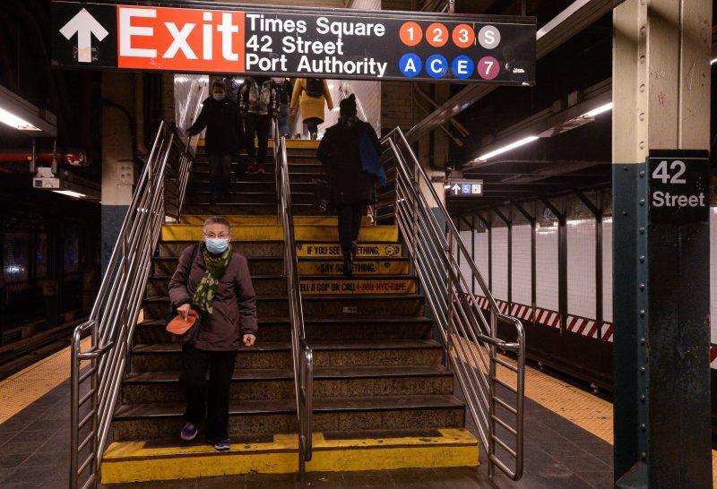 Corona-Rückreise: Die U-Bahn-Stationen in New York City sind recht leer.