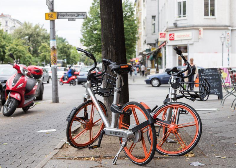 Leihräder in Berlin sind eines der Verkehrsmittel der Stunde.