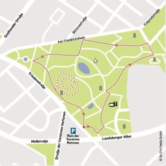 Der Volkspark Friedrichhain bietet ein stolperfreies Trainingsareal.