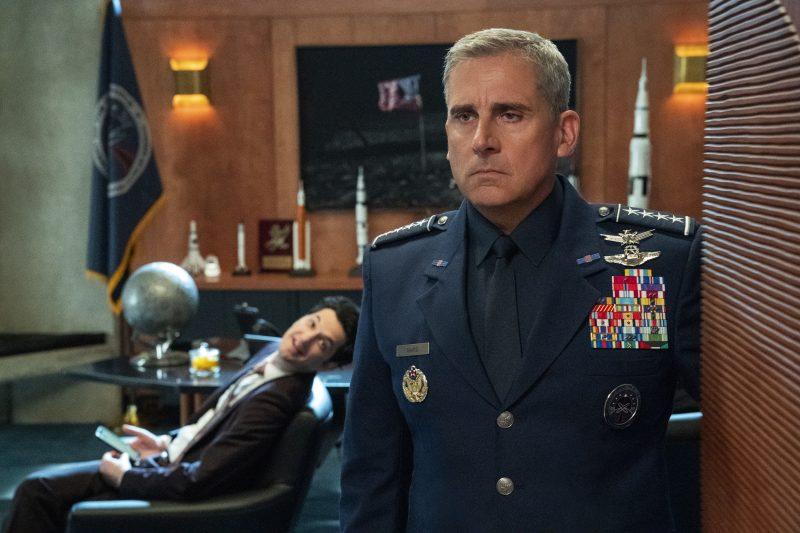 "Neue Serie im Mai: ""Space Force"". Steve Carell muss die US-Weltraumtruppen startklar machen. Foto: Netflix"