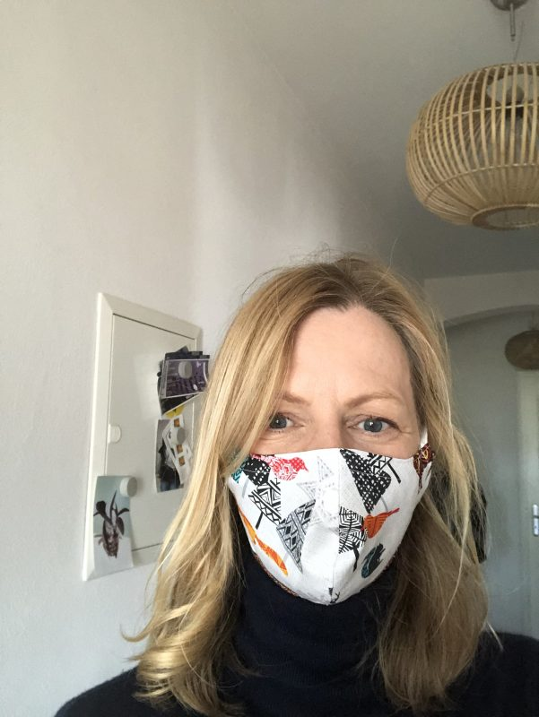 Meine Maske ist von der Designerin Stefanie Ostwald