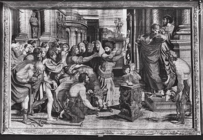 Staatliche Museen zu Berlin, Gemäldegalerie/Fotosammlung | Paulus und Barnabas in Lystra, Tapisserie entworfen von Raffael