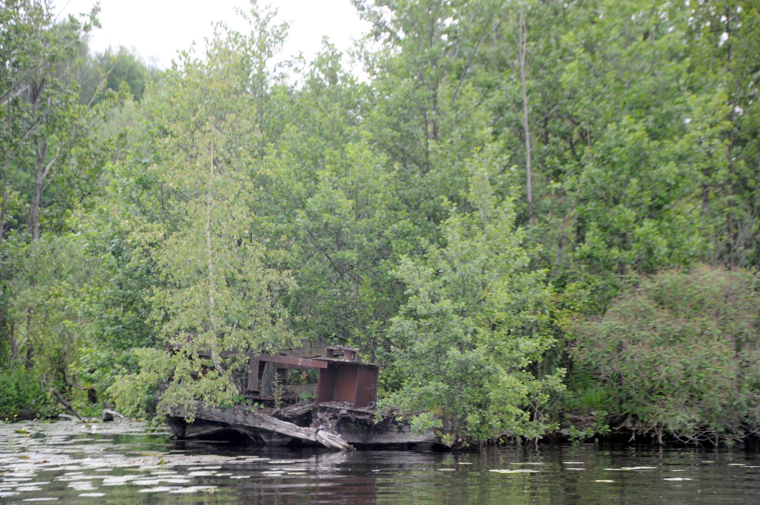 Gesunkener Mohlekahn im Nieder Neuendorfer See. Foto: Imago/Horstmann