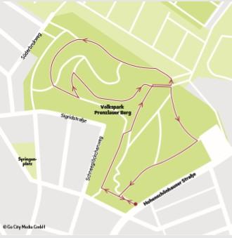 Lange oder kurze Lauf-Route: Im Volkspark Prenzlauer Berg kann man sich das aussuchen.