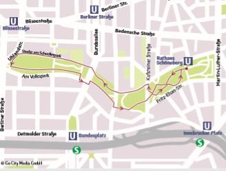 Der Volkspark Schöneberg ist nicht breit, aber lang, und bietet deswegen eine gute Laufstrecke.