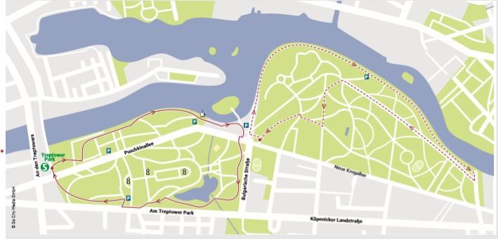 Die schönsten Laufstrecken Berlins: Bei den Lauf-Routen durch den Treptower Park kann man nebenbei die Spree betrachten.