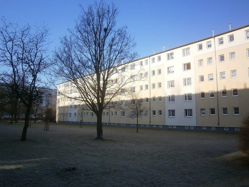 Großwohnsiedlungen in Berlin: WBS-70-Gebiet: Das Areal um die Michelangelostraße.