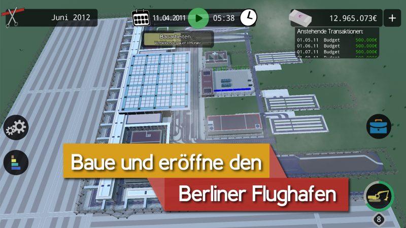 """Der Postillon teilt Screenshots vom """"BER Bausimulator"""". Foto: Der Postillon"""