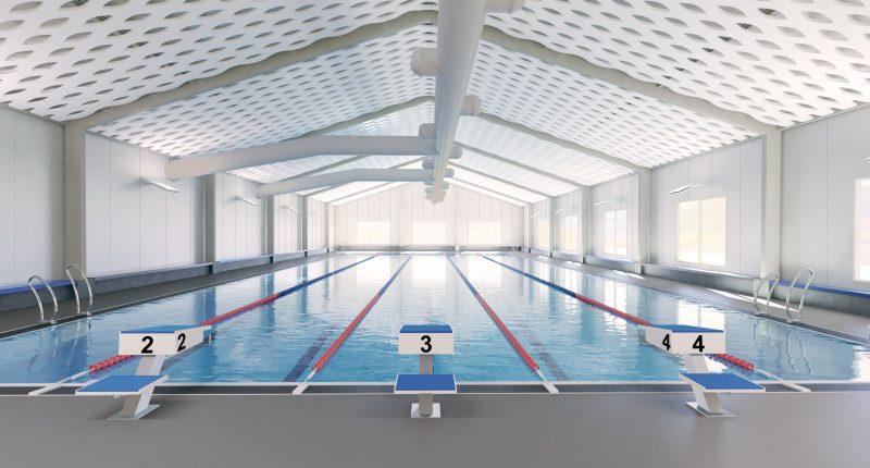 So wird das neue Schwimmbad in Kreuzberg aussehen. Rendering: Studio Gollwitzer Architekten