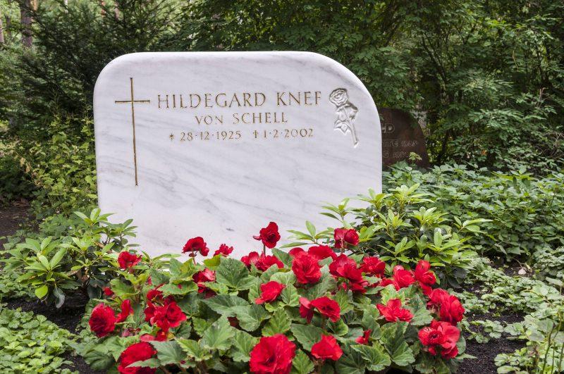 Grab von Hildegard Knef
