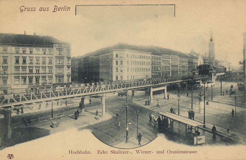 Hochbahn über der Kreuzung Skalitzer Straße, Oranienstraße, Manteuffelstraße, Wiener Straße.