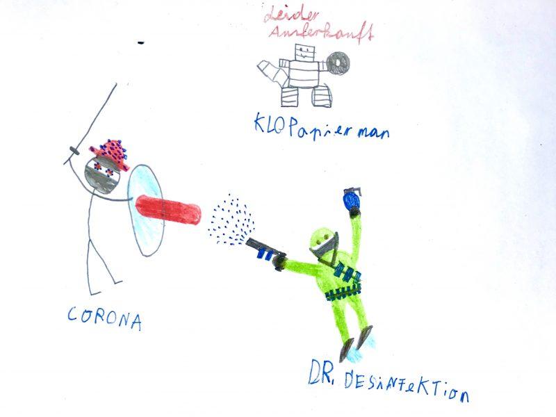 """Gropis Bau plant """"Kids Only"""": Kinderkunst wie diese von Grundschüler Anton zu Corona könnten bald im Museum hängen."""