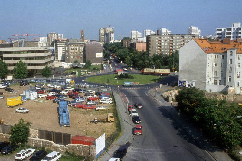 Moritzplatz und Oranienstraße, Aufnahme um 1993