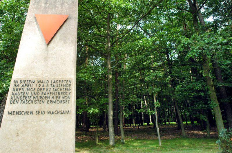 Mahnmal an der Gedenkstätte im Belower Wald.
