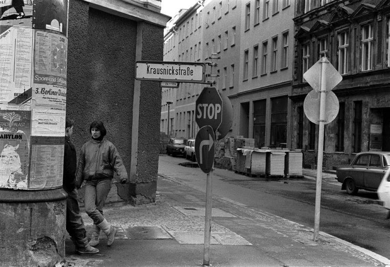 Krausnickstraße Ecke Große Hamburger Straße, 1988.