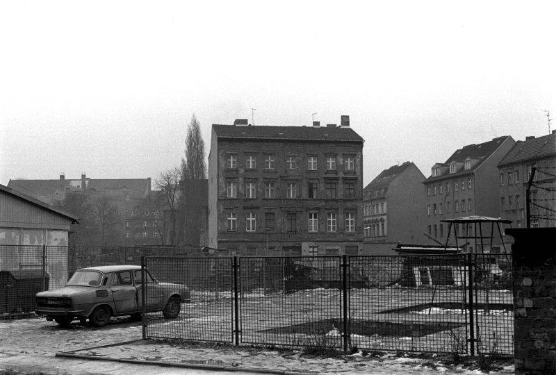 Blick von der Gipsstraße zur Auguststraße, 1981.