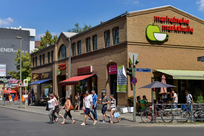 Eine von Berlins drei Markthallen befindet sich an der Kreuzberger Bergmannstaße, die Marheineke Markthalle.