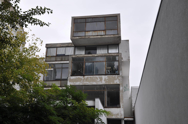 Beton und Brutalismus in Berlin: Gebäude von ExRotaprint in Wedding.