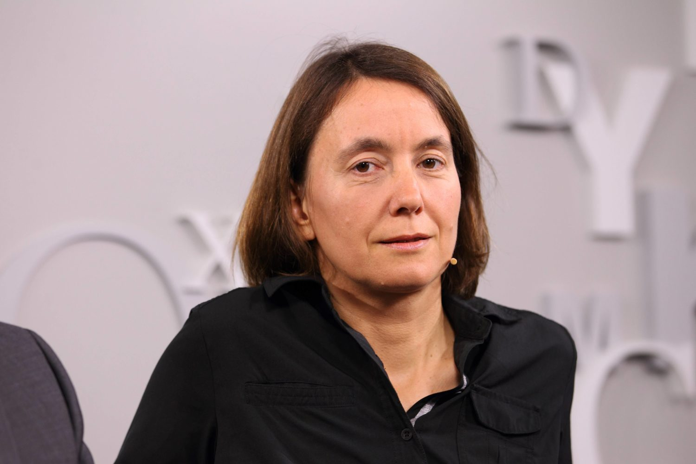 Die Autorin Kathrin Passig bei der Frankfurter Buchmesse.