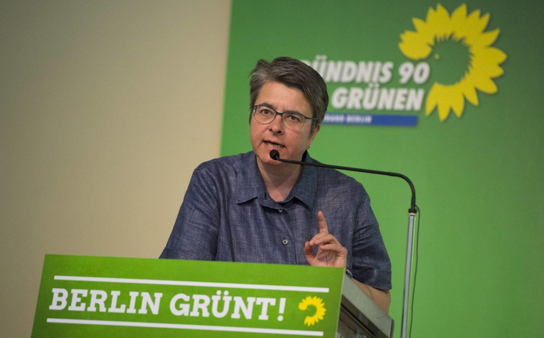 Die Bezirksbürgermeisterin von Friedrichshain-Kreuzberg, Monika Herrmann (B90/Die Grünen).