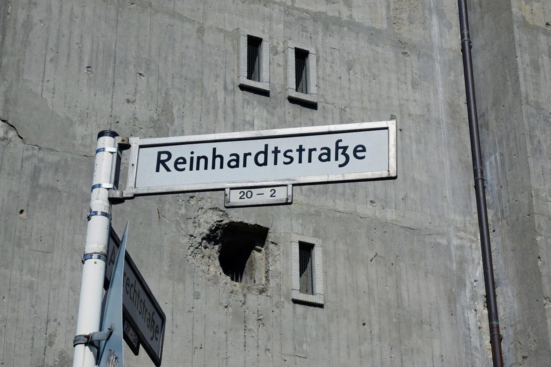Der Bunker in der Reinhardtstraße.