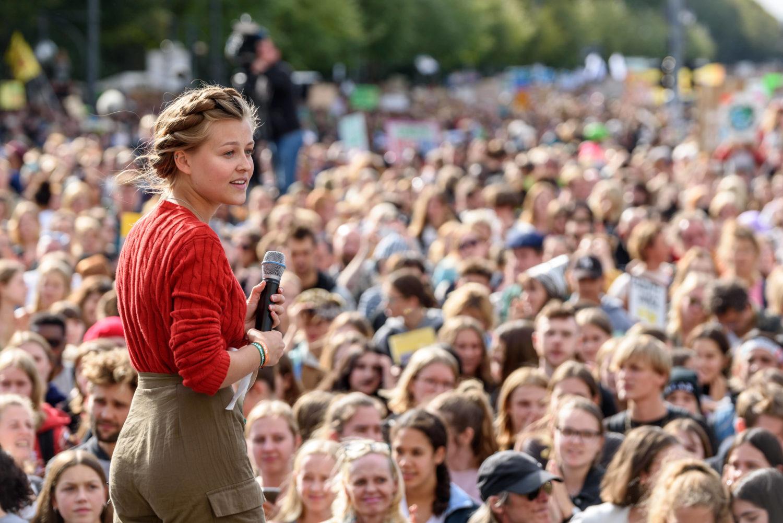 Klimaaktivistin Clara Mayer bei Fridays for Future.