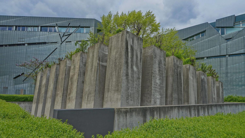 Garten des Exils vor dem Jüdischen Museum in Kreuzberg.