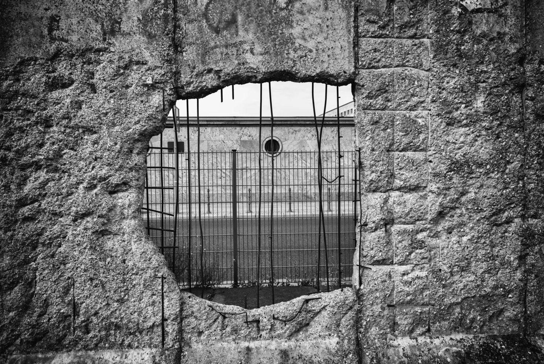 Beton in Berlin: Berliner Mauer.