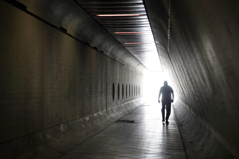Tunnel in Berlin: Der Fußgängertunnel zum Flughafen Tegel.