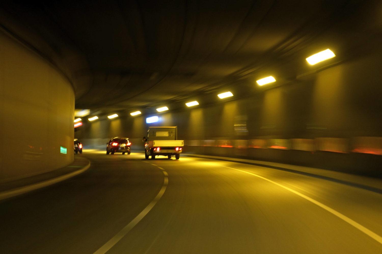 Unter dem Berliner Zentrum, der Tiergartentunnel.