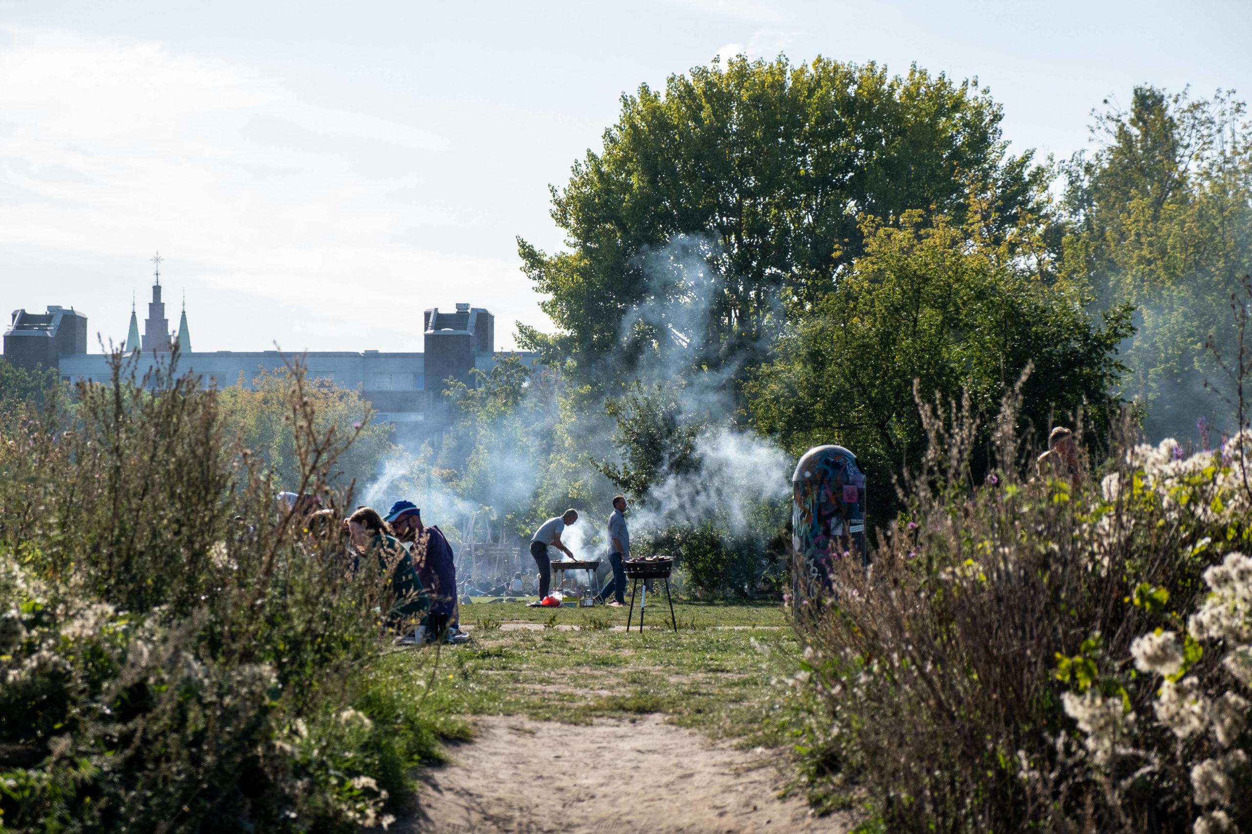 Grillen im Mauerpark ist auf ausgewiesenen Flächen möglich. Foto: Imago/Seliger