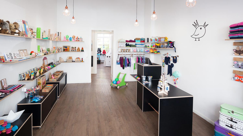 Der Kids Concept Store zuckerfrei verkauft fair und nachhaltig hergestelltes Spielzeug, handgefertigte Kinderkleidung und besondere Kinderbücher. Foto: zuckerfrei