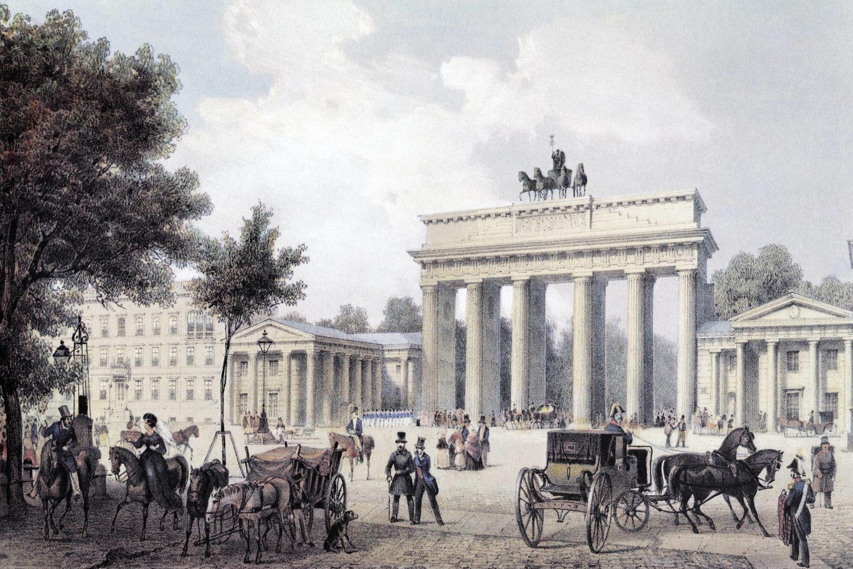 Das Brandenburger Tor um 1850.