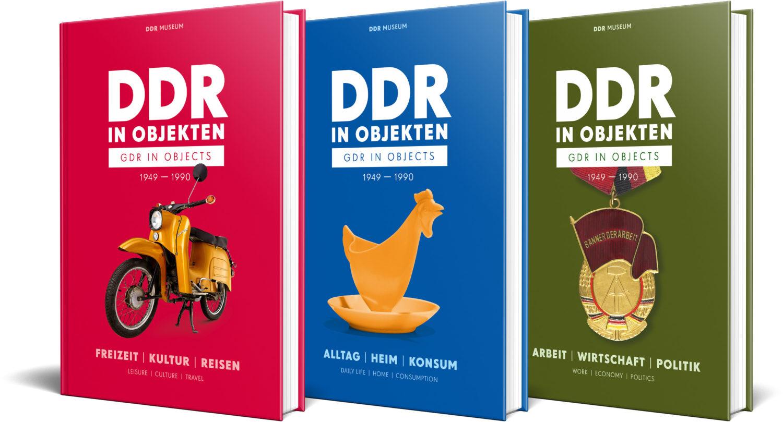 Ihr habt Lust bekommen, noch mehr Objekte aus der DDR zu entdecken? Dann kauft doch eins der Bücher im Shop des DDR-Museums.