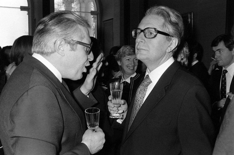 Hans-Jochen Vogel (r.) wollte auch einmal Kanzler werden. Foto: Imago Images/Sven Simon