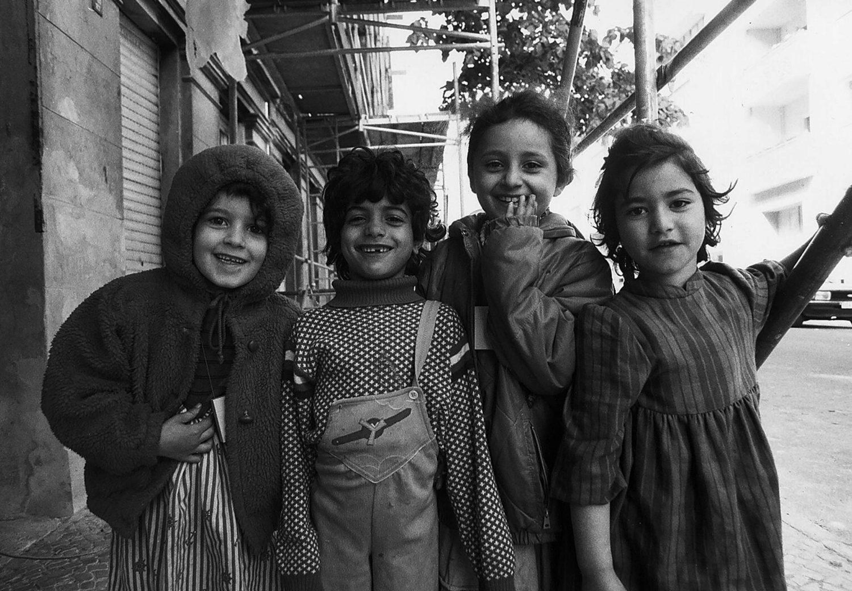 Türkische Kinder in Kreuzberg, 1988. Foto: Imago/Jürgen Ritter